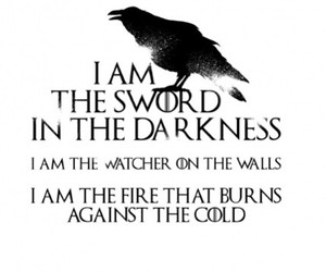 got, game of thrones, and nights watch image