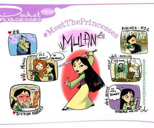 mulan, pocket princesses, and disney image
