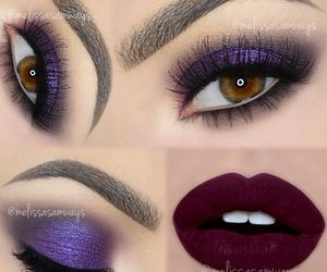 beauty, eyes, and lips image