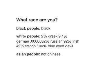 asians, black people, and race image
