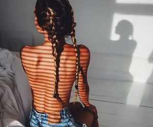 braids, fit, and tan image