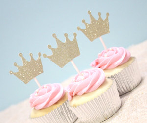 crown, party supplies, and baby shower image