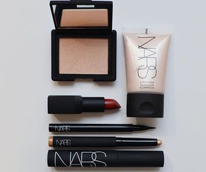 nars, highlighter, and lipstick image
