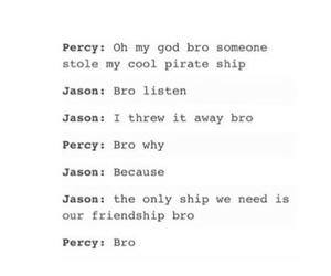 bromance, pjo, and percy jackson image