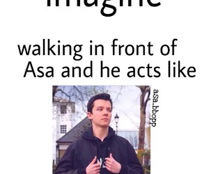 asa butterfield, imagines, and ella purnell image