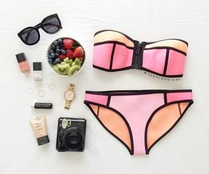 bikini, fruit, and summer image