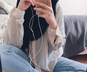 fashion, muslim girl, and hijab image