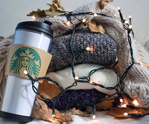 starbucks, light, and sweater image