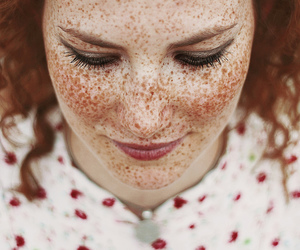 girl, freckles, and beautiful image