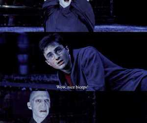 harry potter, voldemort, and biceps image