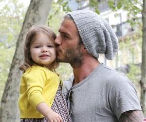 David Beckham, daughter, and kiss image