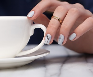 nails, coffee, and ring image