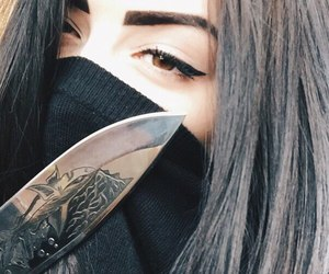 girl and knife image