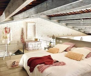 bedroom, room, and loft image