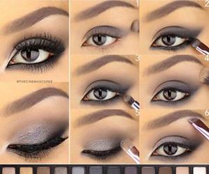 black, eyeliner, and eyes image