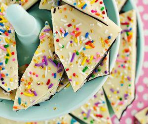 food, chocolate, and sprinkles image