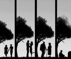 black and white and love image