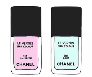 chanel, pink, and overlay image