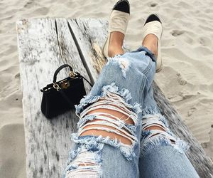 chanel, jeans, and outfit image