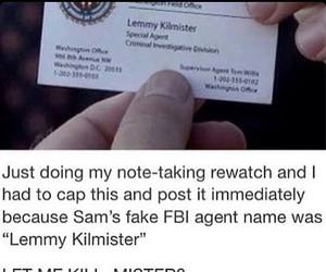 dean winchester, fbi, and hunter image