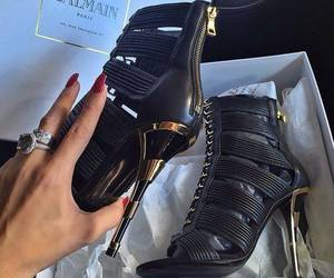 shoes, Balmain, and heels image