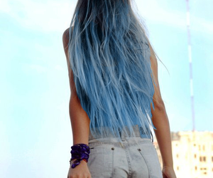 blue, colored hair, and hair image