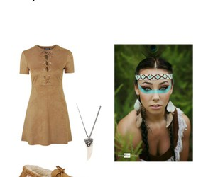 costume, diy, and native american image
