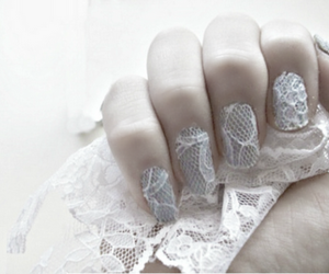 nails, lace, and pretty image