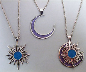 moon, necklaces, and nice image