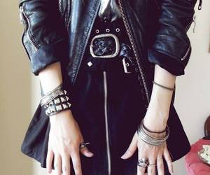 fashion, rock, and black image