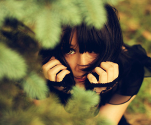 girl, green, and photography image