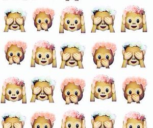 monkey, emoji, and emoticons image