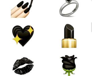 black, heart, and lips image