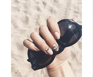 beach, eyes, and manicure image