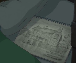 anime, draw, and house image