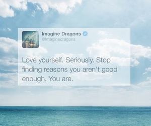 quotes, imagine dragons, and sea image