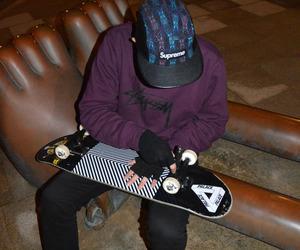 boys, skate, and skateboard image