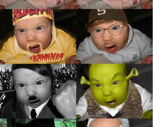 baby, funny, and cool image