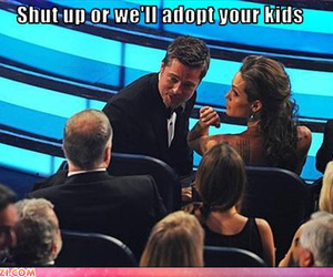 funny, brad pitt, and Angelina Jolie image