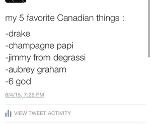 canada, Drake, and facts image
