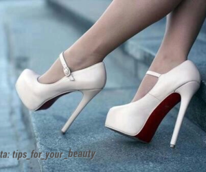 beauty, white, and heels image