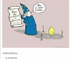 cursive and funny image