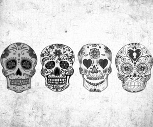 black, skull, and cool image