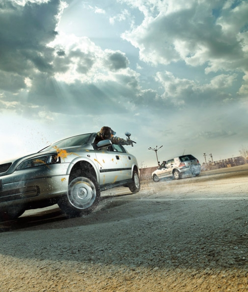 car, carioca, and paintball image