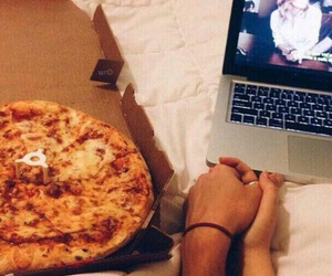 bae, couple, and pizza image