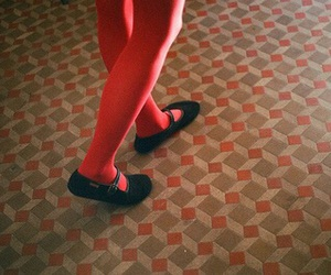 red, shoes, and vintage image