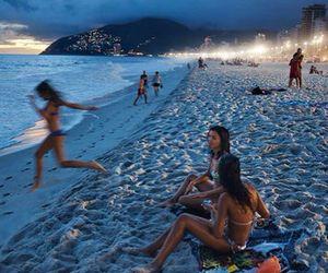 beach, bikini, and drinks image