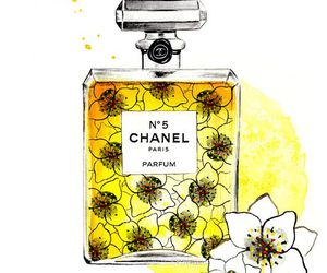 perfume, chanel, and drawing image