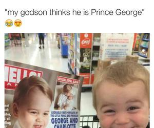 funny, baby, and prince image
