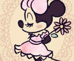 disney, flowers, and minnie mouse image